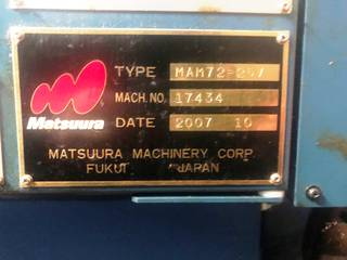 Fresadora Matsuura MAM 72 25V, A.  2007-4