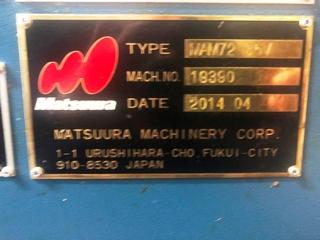 Fresadora Matsuura MAM 72 35V, A.  2014-9