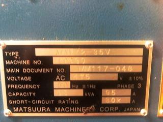 Fresadora Matsuura MAM 72 35V, A.  2014-10