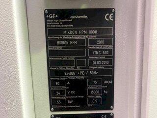 Fresadora Mikron HPM 800 U-13